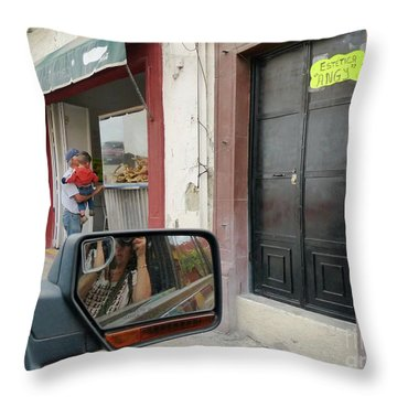 Throw Pillow featuring the photograph Window Shopping  by Rosanne Licciardi