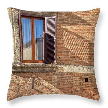 Window Shutter Shadow Of Tuscany Throw Pillow