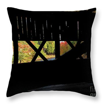 Window To Fall Throw Pillow