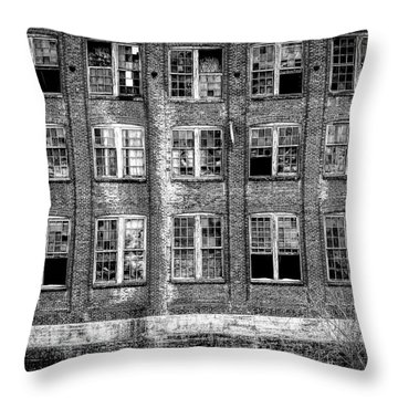 Windows Of Old Claremont Throw Pillow