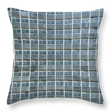Windows Pattern Modern Architecture Throw Pillow