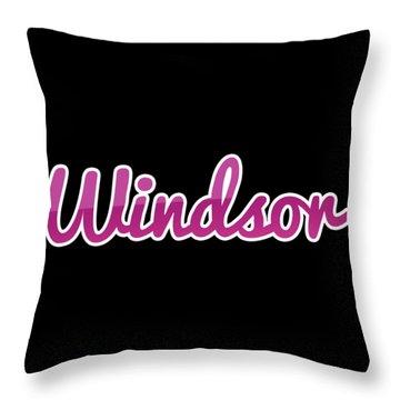 Windsor #windsor Throw Pillow