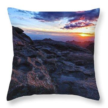 Windy Point Sunset Throw Pillow