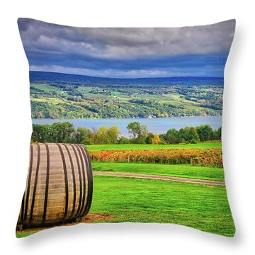 Throw Pillow featuring the photograph Wine Country - Finger Lakes, New York by Lynn Bauer