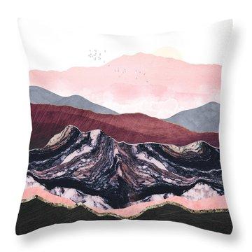 Wine Hills Throw Pillow