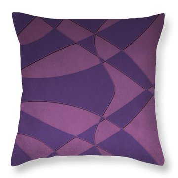 Wings And Sails - Purple And Pink Throw Pillow