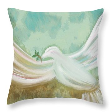 Wings Of Peace Throw Pillow