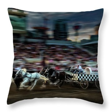 Throw Pillow featuring the photograph Winning Finish by Brad Allen Fine Art