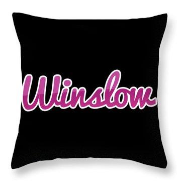 Winslow #winslow Throw Pillow