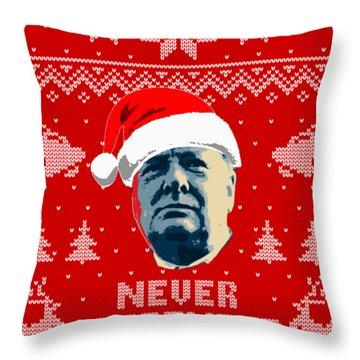 Winston Churchill Never Surrender Christmas Throw Pillow