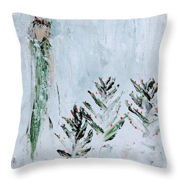 Winter Angel Throw Pillow