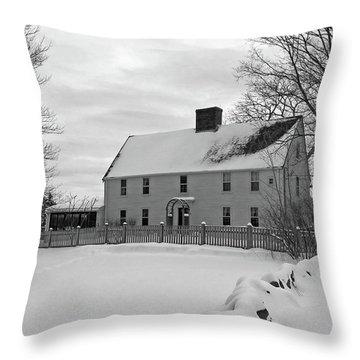 Winter At Noyes House Throw Pillow