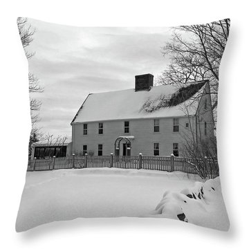 Winter At Noyes House Throw Pillow