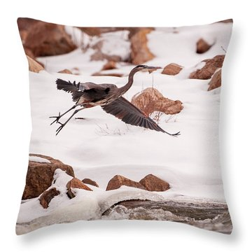 Throw Pillow featuring the photograph Winter Blue by Jeff Phillippi