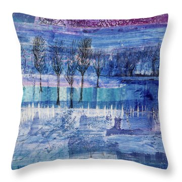 Winter Blues 1 Throw Pillow