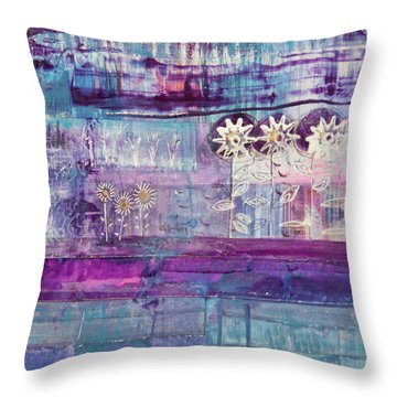 Winter Blues 2 Throw Pillow