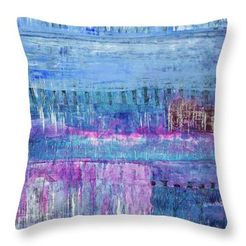 Winter Blues 3 Throw Pillow
