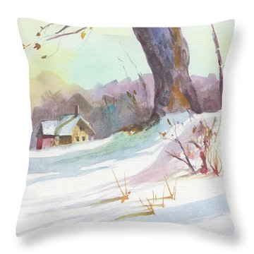 Winter Break Throw Pillow