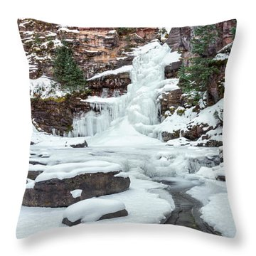 Winter Falls Throw Pillow