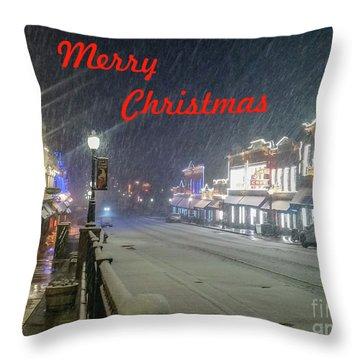 Winter In Cripple Creek - Co Merry Christmas Throw Pillow