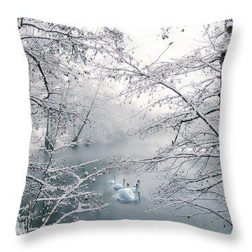 Winter Journey Throw Pillow
