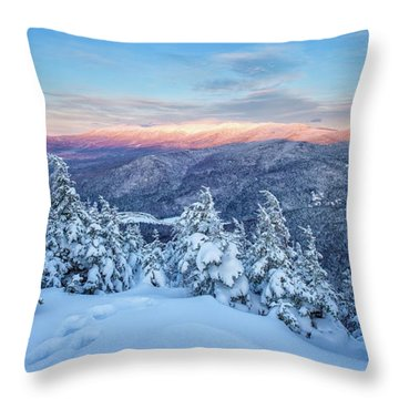 Winter Light, Mountain Views Throw Pillow