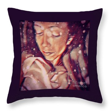 Winter Slumber Throw Pillow