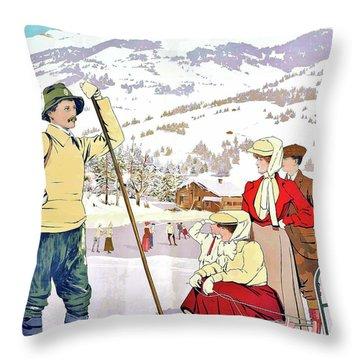Winter Sport Throw Pillow