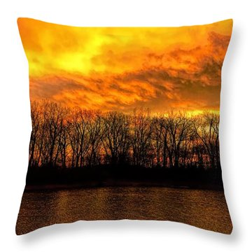 Winter Warmth Throw Pillow