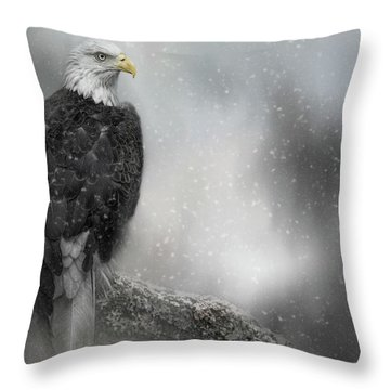 Winter Watcher Throw Pillow