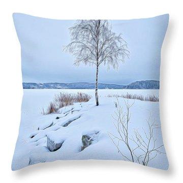 Winterland 10 Throw Pillow