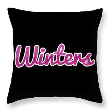 Winters #winters Throw Pillow