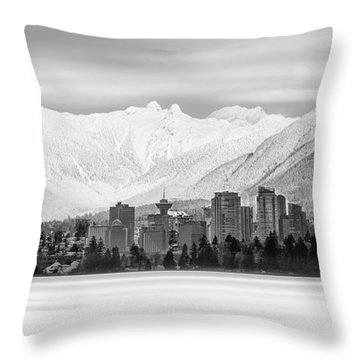 Winterscape Vancouver Throw Pillow