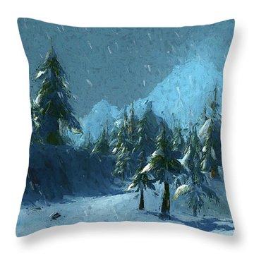 Winterspring Throw Pillow