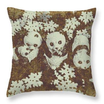 Wintertime Design Throw Pillow