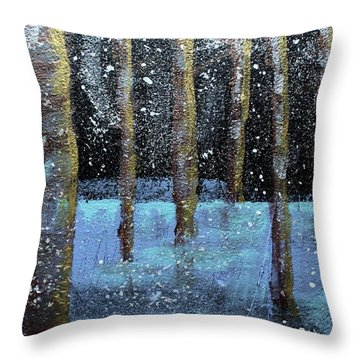 Wintry Scene I Throw Pillow