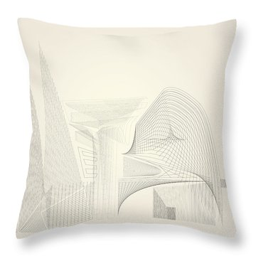 Wire Folly Complex Throw Pillow