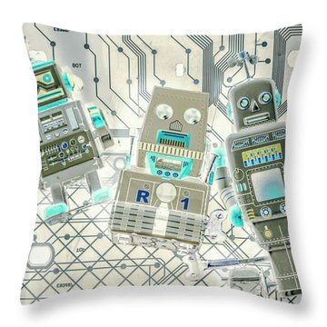 Wired Intelligence Throw Pillow