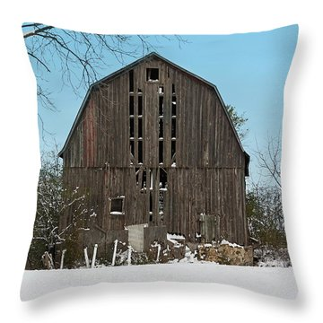 Throw Pillow featuring the photograph Wisconsin Barn by Kim Hojnacki