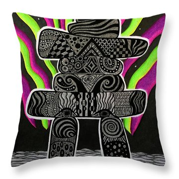 Wisdom Of The Arctic Throw Pillow