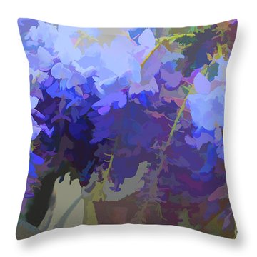 Wisteria Colours Throw Pillow