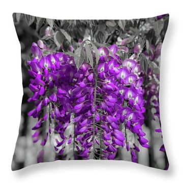 Wisteria Falling Throw Pillow