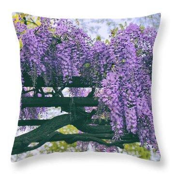 Wisteria Floribunda  Throw Pillow