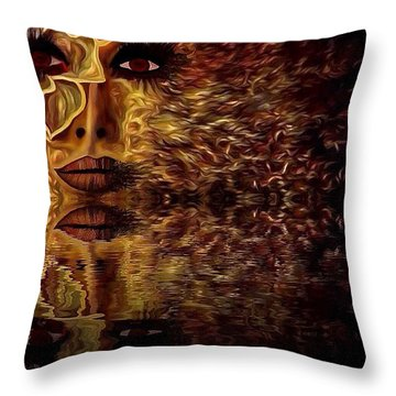 Wizard Of Flowers And Fire 1 Throw Pillow