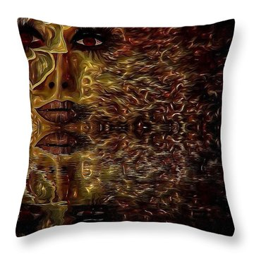 Wizard Of Flowers And Fire Throw Pillow