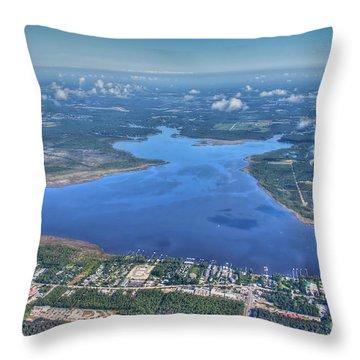 Wolf Bay Alabama Throw Pillow