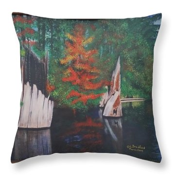 Wolf Lake On Vancouver Island  Throw Pillow