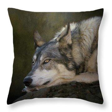 Wolf Watch Throw Pillow