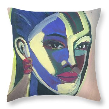 Woman Of Color Throw Pillow
