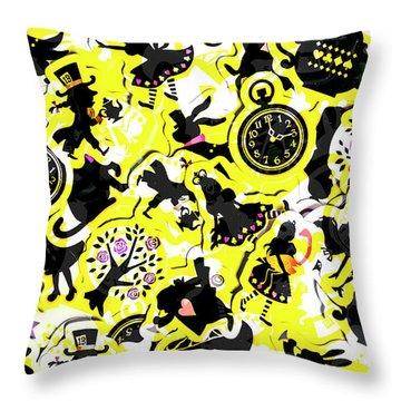 Wonderland Design Throw Pillow